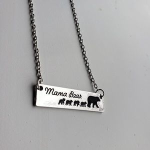 Jewelry - Mama bear and 4 cubs necklace